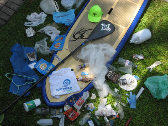 SUP beach cleanup